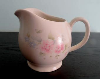 PFALTZGRAFF Tea Rose Creamer Small Pitcher Syrup Sauces Ivory with Pink Flowers Vintage China