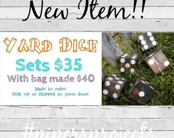 Back yard dice