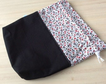 Wrap in cotton or knitting or crochet work bag
