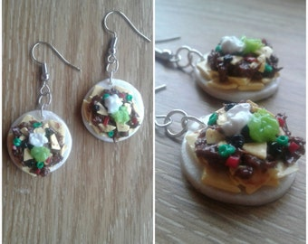 Polymer Clay Nacho Earrings
