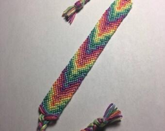 Friendship Bracelet: Light Rainbow