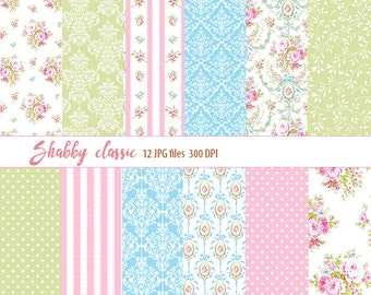 Shabby chic, floral pattern, , blue patterns, damask, shabby chic paper, shabby chic patterns, polka dots