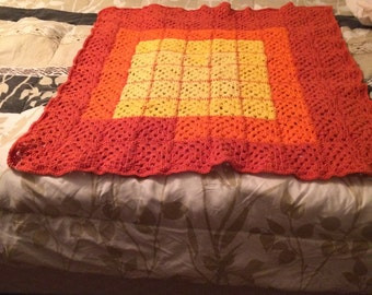 fall colored baby afghan