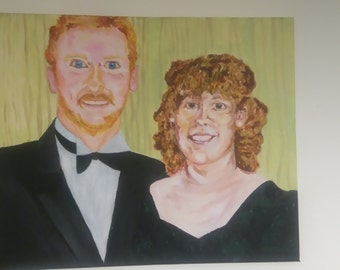 Turn your memories into a painting! Custom couples paintings, acrylic on canvas
