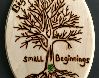 Small Beginnings - acorn in the tree