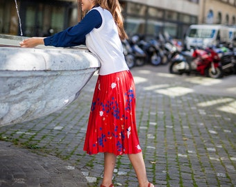 Red Autumn Skirt