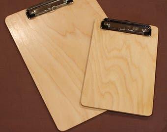 Birch clipboards, low profile