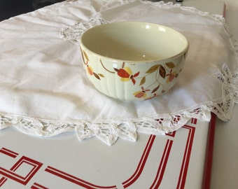 """Vintage Halls Jewel Tea Autumn Leaf 6"""" China Bowl"""
