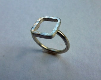 forged, silver ring, handmade, minimalist,.