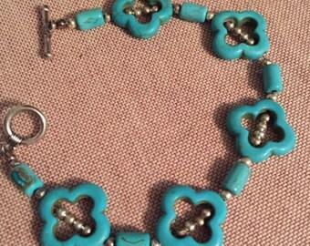Turquoise Clover Bracelet