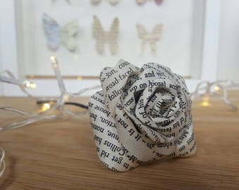 Book page buttonhole for wedding or prom. Ideal for literary or alternative grooms, ushers, groomsmen, or bookworms.
