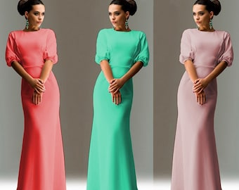 Amazing Maxi dress. Elegant long dress. More Colors. Sizes XS-L