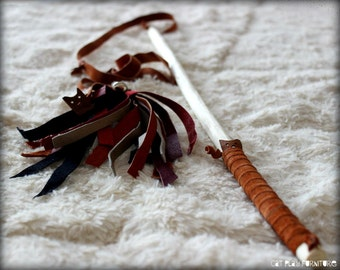 Cat toys - Leather cat wand. Cat wand toys, toys for cats, cool cat toys, toys for kittens, cat toy wand, cat fishing rod toy, cat pole toy