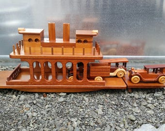 Wood Ferry Boat DEPOSIT ONLY handmade for you