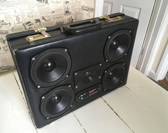 Custom Built Portable Bluetooth Briefcase Speaker
