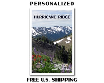Personalized Olympic National Park Poster, olympic national park, national park poster, travel poster, custom poster, hurricane ridge