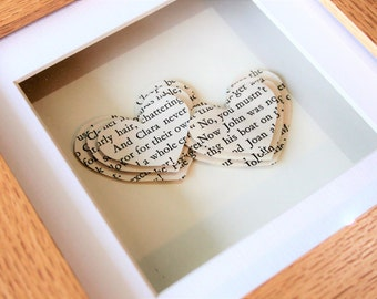 Bespoke 3D Layered Name Hearts - Two Hearts