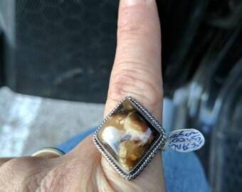 Wood Jasper Ring- Size 9