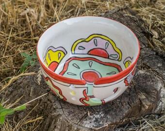 Flowers Yarn Bowl