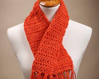 Crocheted Orange Neckwrap