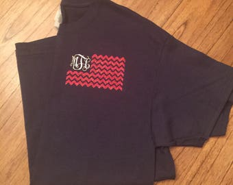 4th of July monogrammed shirt