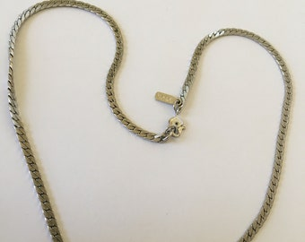 """Vintage Monet 18"""" rope chain silver tone necklace, beautiful!"""