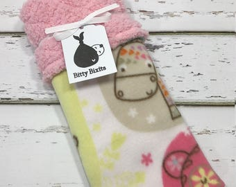 elephant lovey blanket Girls Lovey blanket Security blanket Baby girl blanket Baby shower gift Girls shower gift elephant baby shower