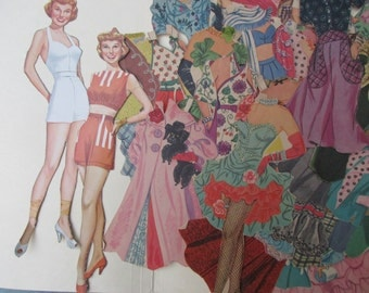 June Allison Original Vintage (1950s) Paper Dolls