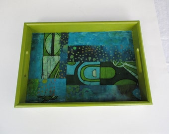 Colorful African inspired design Tray,Decorative serving tray