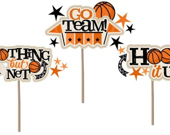 Cupcake Topper, basketball cupcake topper, basketball, basketball theme, basketball birthday, basketball decor, basketball party, party