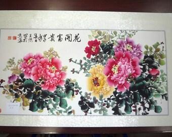 Peony Chinese painting, Chinese art