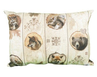 Pillow rectangle hunting house hunters of wild animals