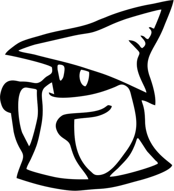 Vinyl Decal Sticker - Black Mage decal inspired by Final Fantasy for Windows, Cars, Laptops, Macbook etc