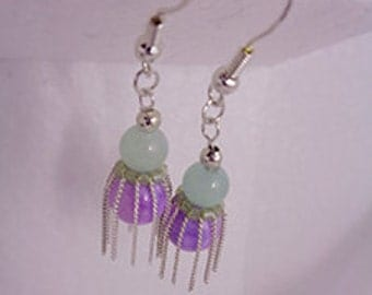 Necklace and Earrings Amazonite, Persian Jade and Silver