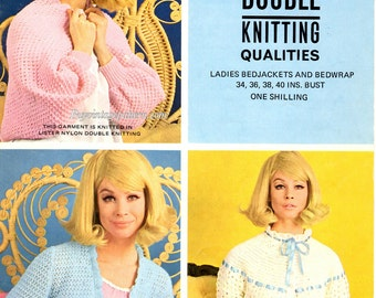 Vintage knitted Bed wrap and Bed Jackets knitting and crochet patterns in PDF instant download version