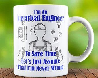 Electrical Engineer Mug, Engineer Coffee Mug, Engineer Gifts, Graduation Gift, Funny Engineer Gift, Geek Mug, Geek Gift, Nerd Gift