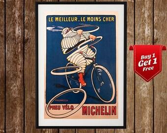 Michelin- Vintage Tire Ad, Bibendum Poster, Michellin Man, Vintage Tires, Tire Company Ad, Vintage Ad Print, Vintage Michellin, Old Advert