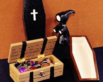 Death, Coffin, and Treasure Chest