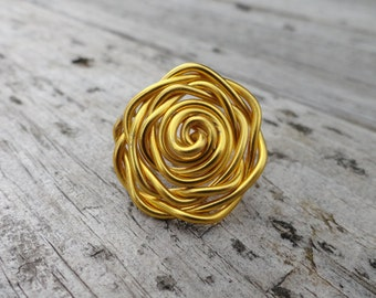 Fashion wire wrapped Flower Ring