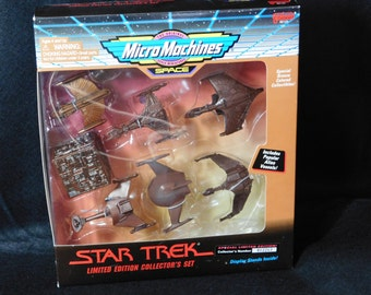 1995 Micro Machines SPACE – Star Trek Limited Edition Collector's Set – Special Bronze Colored Collectibles – ALIEN VESSELS