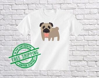 Kids Pug Shirt - Boys Pug T Shirt - Girls Pug Tshirt - Youth Dog Tee - Cute Dog Gift - Funny Puppy Apparel - Pug Baby Clothes - Pug Tee