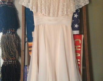 Dusty rose vintage ladies dress.