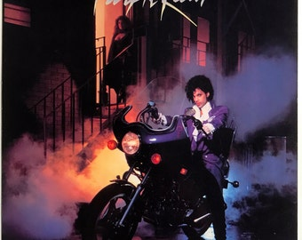Prince - Purple Rain - Promotional Movie Jacket + Invite Card
