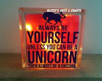 Glass tile - Always be a Unicorn
