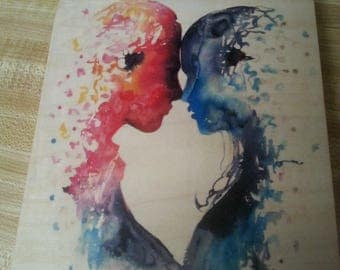 Two People Joined by color