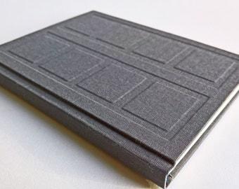 Grey/Dark Blue Door Notebook Relief Cover