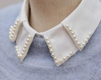 Embroidered Star Vest Blouse Fake Shirt Imitation turn down Fall winter double layer
