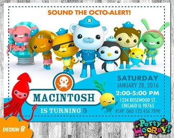 Octonauts Invitation, Octonauts Birthday, Octonauts Invite, Octonauts Party, Octonauts Printable, Octonauts Custom, Octonauts Invitations