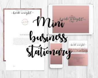 Heidi Waight - Mini Business Stationary | Branding stationary | Branding kit | Logos | Blog | Website