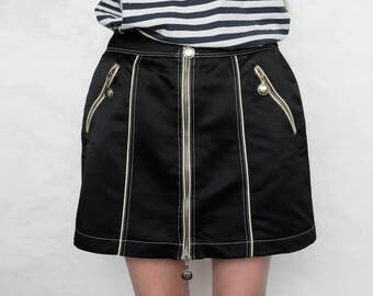 Vintage Moschino jeans mini black skirt Size 10